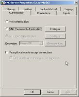 Настройка аутентификации VNC Server