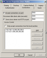 Настройка подключений VNC Server