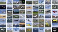 Краткая выдержка из списка доступных моделей самолётов