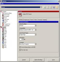 Настройка сохранения в формате PDF
